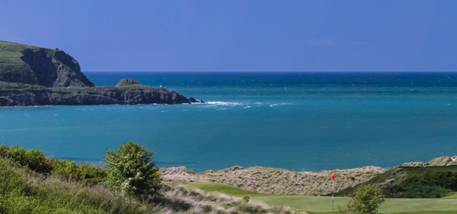 Daymers Bay from Golf Club